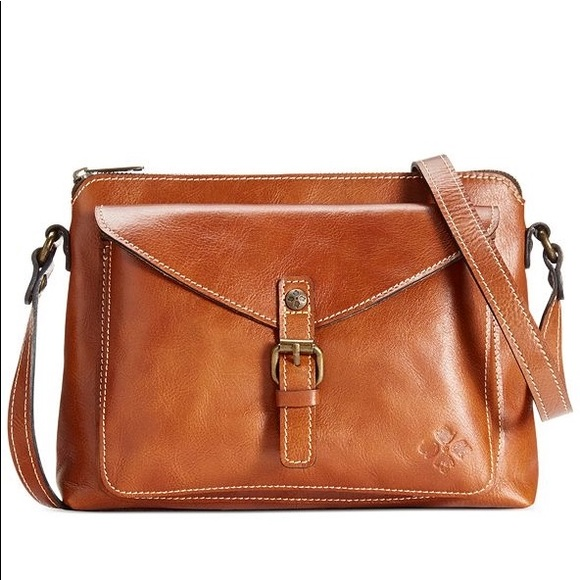 Patricia Nash Avellino Crossbody Cognac Leather
